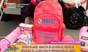 Prevención ante un sismo: cuida tu vida con la mochila de emergencia