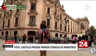 Castillo encabeza primera sesión del Consejo de Ministros