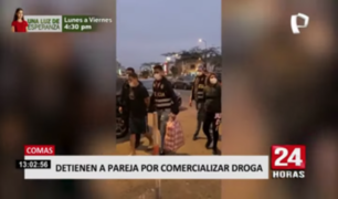 Cae pareja que comercializaba droga en Comas
