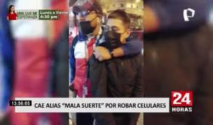 Detienen a ladrón dedicado a robar celulares en La Victoria