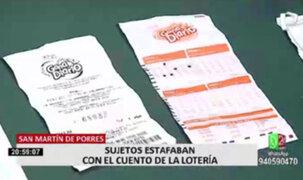 SMP: caen sujetos que estafaron con el cuento del boleto ganador de lotería