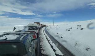 Nevadas alcanzan 10 centímetros de alto y afectan siete provincias en Puno