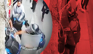 Brutal golpiza: Fiscalizadores atacan a puñetazos a ambulante en el Cercado de Lima