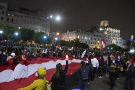 Realizan gran manifestación en la Plaza San Martín en contra del gobierno de Pedro Castillo