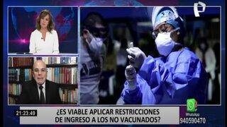 Expresidente del TC afirma que sí es posible aplicar restricciones a personas que se nieguen a ser vacunadas