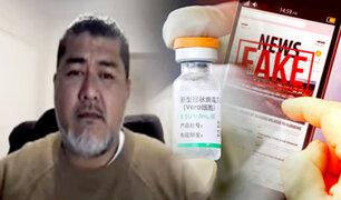 Antonio Quispe: vacuna Sinopharm disminuye un 90% el riesgo de morir por COVID-19