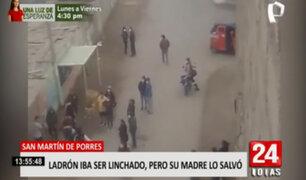 SMP: vecinos casi linchan a ladrón, pero su madre logra rescatarlo