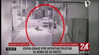 SMP: joven fue baleado por resistirse al robo de su motocicleta