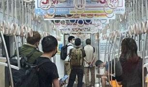 Japón: ataque con cuchillo en un tren deja al menos nueve pasajeros heridos
