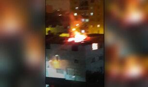 Breña: bombardas lanzadas durante festejos por aniversario de la 'U' causaron incendio