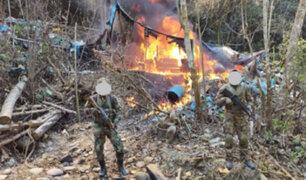 Ayacucho: Fuerzas Armadas y Policía Nacional destruyen catorce pozas de maceración de hoja de coca