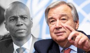 Haití solicita ayuda a la ONU para investigar magnicidio de Moïse
