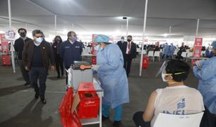 Ministro de Salud supervisó Vacunatón en Lima