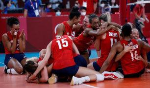 Tokio 2020: EEUU derrotó a Brasil y se coronó campeón olímpico de voleibol femenino