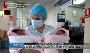 Hospital Rebagliati: gemelas prematuras vuelven a casa tras permanecer más de 45 días en UCI