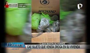 SMP: detienen a sujeto que vendía droga desde su propia vivienda