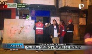 SMP: clausuran discoteca y prostíbulo que funcionaban en la clandestinidad