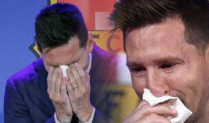 Lionel Messi entre lágrimas se despidió del Barcelona