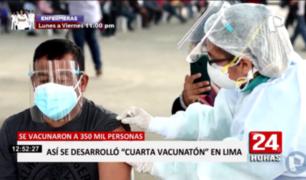 Así se desarrolló la cuarta Vacunatón en Lima y Callao