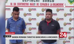 Cae banda que robaba tarjetas bancarias a ancianos en La Molina