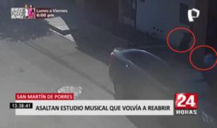 Tres hombres y una mujer participaron de robo a estudio musical en SMP
