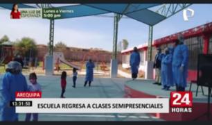 Arequipa: escuela regresa a clases semipresenciales