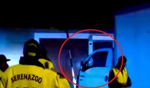 La Molina: tras intensa persecución capturan a delincuente que robó furgón