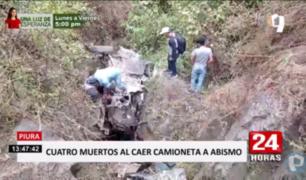 Piura: camioneta de personal se despista y deja cuatro muertos