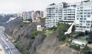Costa Verde: recomiendan construir un muro en acantilado ante amenaza de tsunami