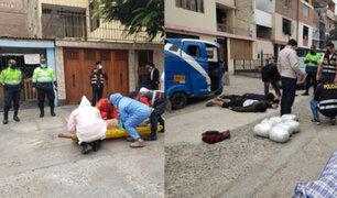 SMP: sujeto cae del cuarto piso cuando trataba de escapar de un operativo policial