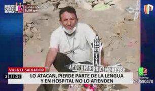 Permanece sedado hombre que perdió parte de lengua durante asalto en VES