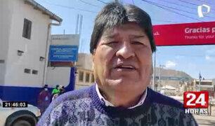 Evo Morales llegó a Juliaca e indicó que participará de diferentes eventos en Lima