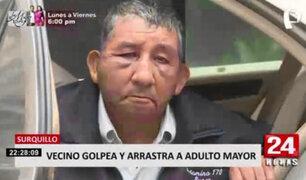 Sujeto con presuntos desórdenes mentales dejó desfigurado a anciano en Surquillo
