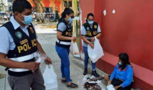 Ucayali: agentes de la PNP entregaron alimentos a personas de bajos recursos económicos
