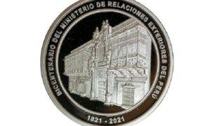 BCR emite nueva moneda alusiva al bicentenario de Ministerio de Relaciones Exteriores