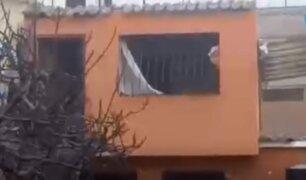 Surco: explosión de balón de gas en vivienda dejó al menos cuatro heridos