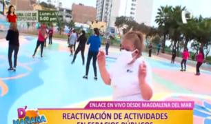 Así se reactivan las actividades en espacios públicos en Magdalena