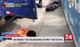 Independencia: cae banda 'Los Soldadores de Pro' por estafa