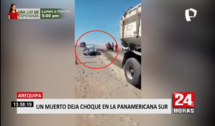 Arequipa: un muerto deja choque en la carretera Panamericana Sur