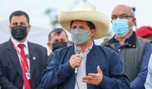 Presidente Pedro Castillo tuvo percance con periodistas durante evento en Ancón