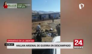 Operativo en La Libertad: hallan arsenal de guerra en descampado