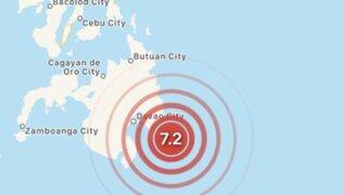 Emiten alerta de tsunami tras terremoto en la isla más importante de Filipinas