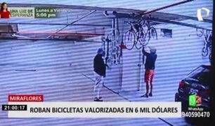 Miraflores: ¿cómo fue ingreso de ladrones a edificio para robar costosas bicicletas?