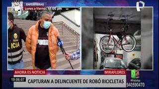 Miraflores: capturan a delincuente que robó bicicletas valorizadas en más de 6 000 dólares