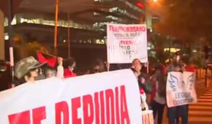 San Isidro: manifestantes protestan por presencia de Evo Morales en Perú