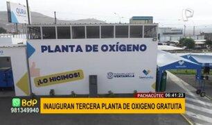 Ventanilla inaugura su tercera planta de oxígeno medicinal gratuita