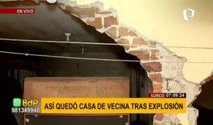 Explosión en Surco: onda expansiva provocó graves daños en viviendas