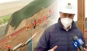 Alcalde Muñoz supervisa avance de obra del malecón Castagnola