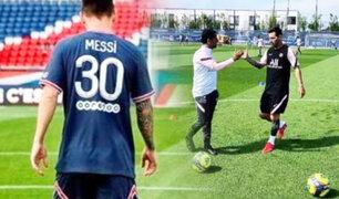 Así fue el primer entrenamiento de Messi con el PSG