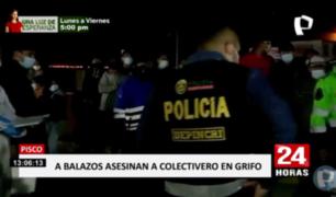 Pisco: sicarios mataron de ocho balazos a colectivero en grifo